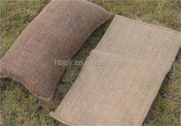 jute bags for sand expansion jute bags with SAP material self-inflatable jute sand bags save labor and time