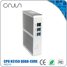 Free shipping hot sale fanless industrial mini pc N3150 x86 12v latest desktop computer