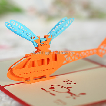 Helicopter 3d Pop Up Paper Craft Origami Expressing Respect To