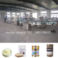 Metal Glass Tin Can Powder Filling Machine / Bottled Milk Powder Filling Line