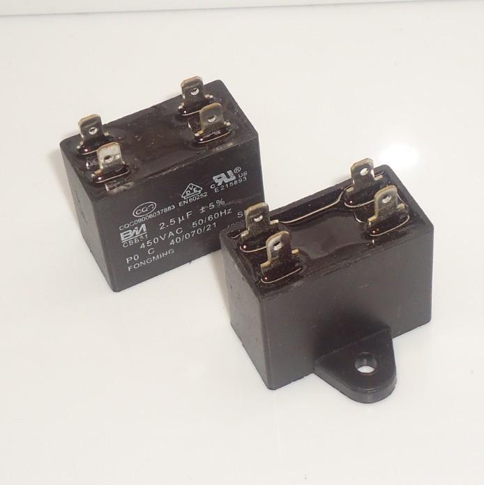 2pcs CBB61 AC450V 2uF Air Conditioner Electric Fan Run Start Capacitor