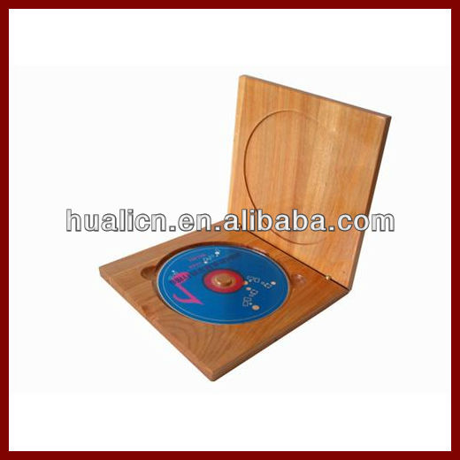 cheap elegant solid wood CD DVD packaging box
