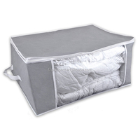 Modern design convenient large capacity pvc non woven mattress storage bag with handle