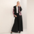 Fashion Design Soft Crepe black front open abaya muslim dresses with nice printing