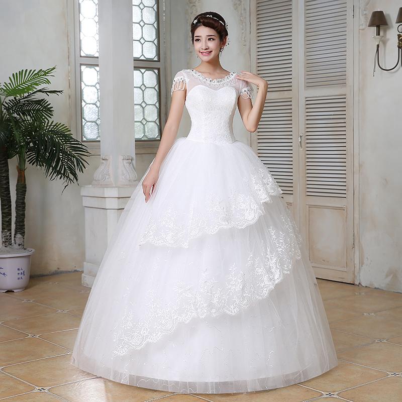 Aliexpress Com Buy Simple Elegant See Through Lace Part: Popular Korean Wedding Dress Designer-Buy Cheap Korean