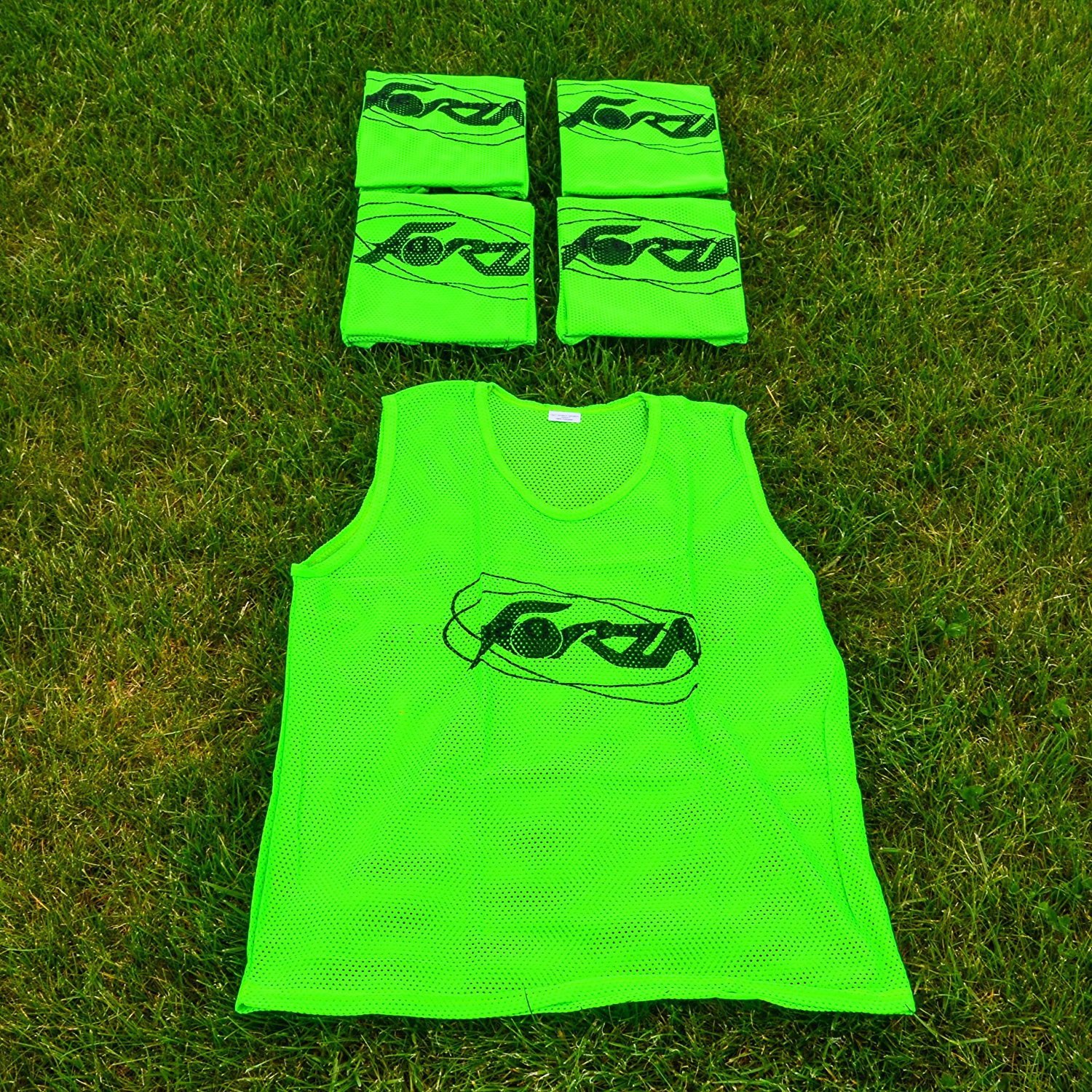 Choose Your Colour & Size Ranging From Kids To XL 15 Pack - Perfect For Football & Rugby Teams Net World Sports FORZA Training Bibs/Vests
