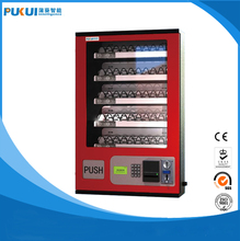 Coin or paper money operated Condom vending machine/mini vending machine for sale small goods/mounted wall model vending machine