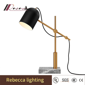 Electric metal bracket hotel reading table lamp