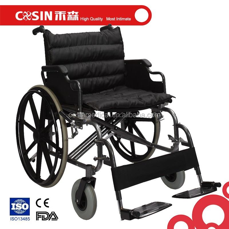 folding steel frame mag wheel chair wide seat bariatric wheelchair