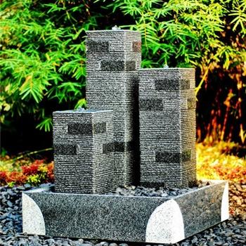 Attrayant LED Light Outdoor Granite Stone Solar Water Fountain For Garden Decor