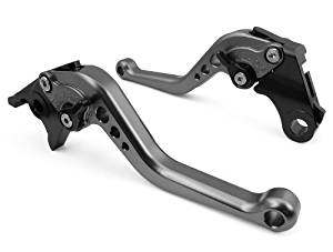 OEM Short CNC Aluminum Motorcycle Racing Adjustable Clutch & Brake Levers 1 Pair Gray Fit for YAMAHA YZF R6 2005-2012 (R-104/Y-688)