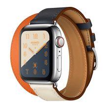 Экстра длинный Браслет из натуральной кожи, двойной кожаный ремешок для часов Apple Watch Series 4 3 2 1 38 мм для спорта 42 мм для женщин(Китай)