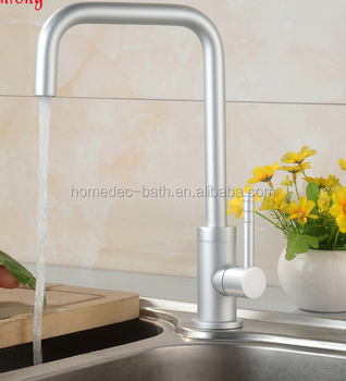 Single cold kitchen faucet space aluminum mixer tap