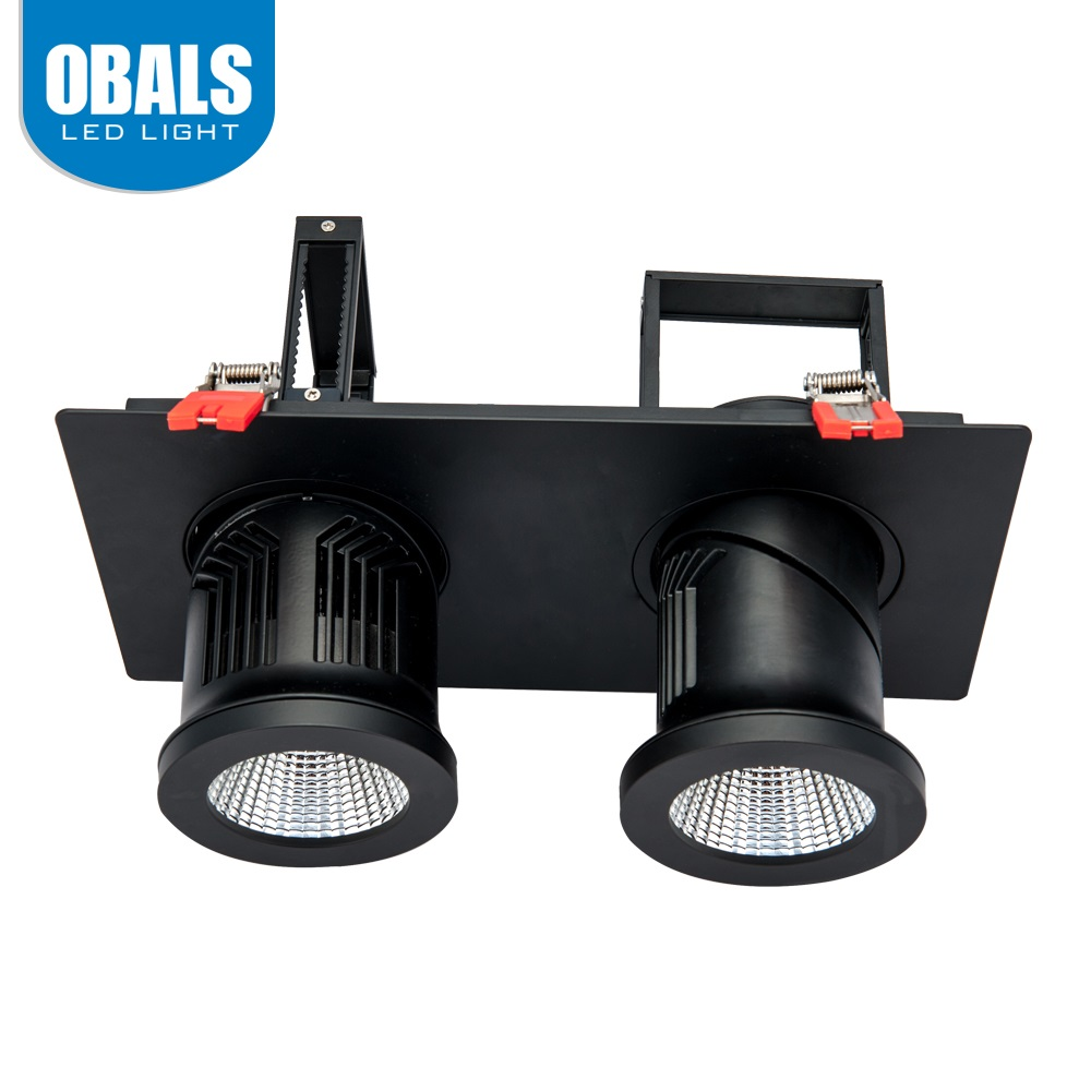 Indoor Portable Black Aluminum High Efficiency CRI 40W LED COB Track Spotlight