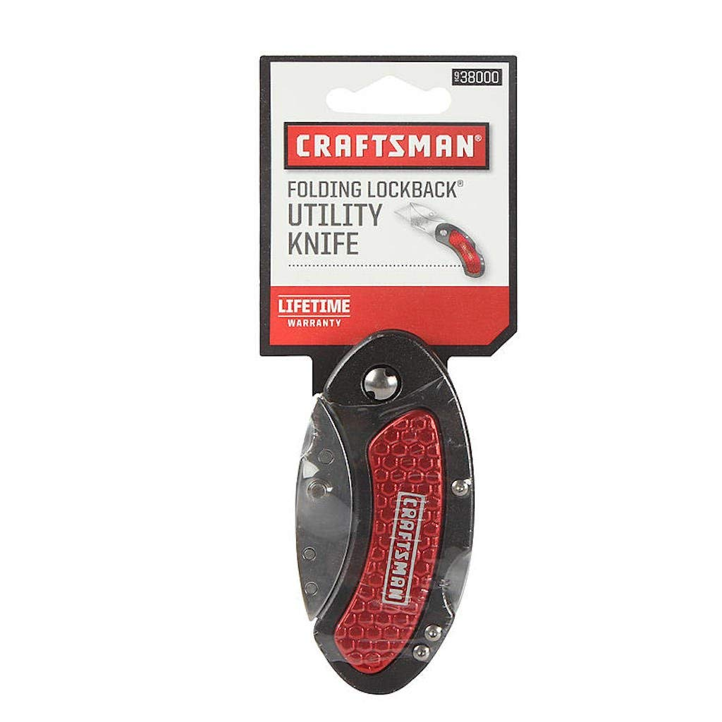 Craftsman Folding Lockback Utility Knife (Assorted Colors)