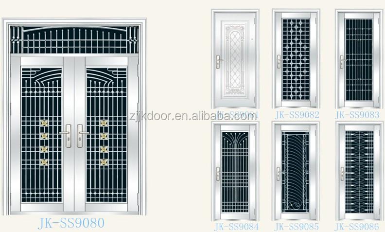 Jk-ss9608 Modern Style Stainless Steel Gate Door Indian Main Door ...