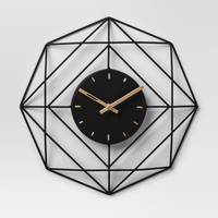 Black Decorative Wall Clock