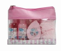 Family harmonious bath & baby gift set in lovely pink bag