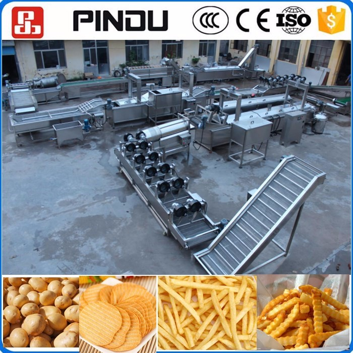 frozen potato flakes french fries cutting machine production line