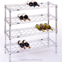 Chrome Wire 36 Bottle Wine Rack