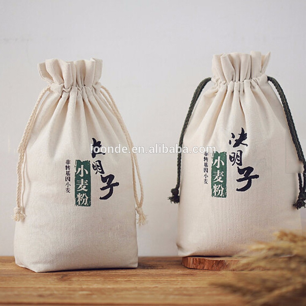 Personalize recycle cotton flour package sack bag for sale