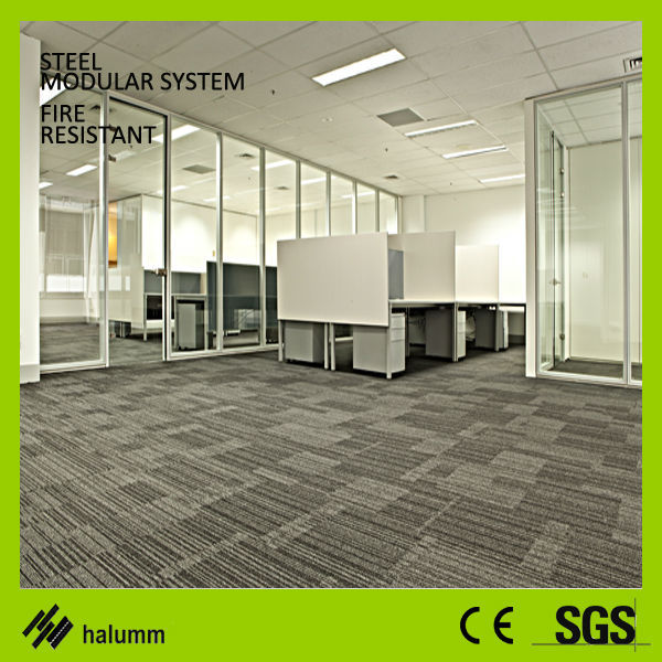 Modular Office Dividing Wall Solid Soundproof Office Wood Partition