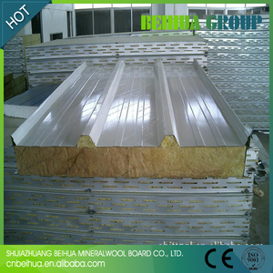 Metal Panel Material and Rock Wool Sandwich Panels/Real Estate safe and durable prefabricated homes