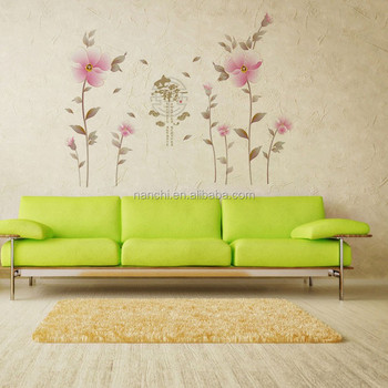Living Room Wall Decal scenery flowers wall decals bedroom living room wall stickers