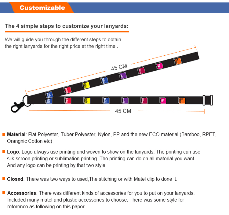 "Free setup full color printing dye sublimated 3/4"" nylon lanyards for badge"