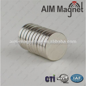 Strong 12mm diameter x 1mm thick neodymium coin magnet