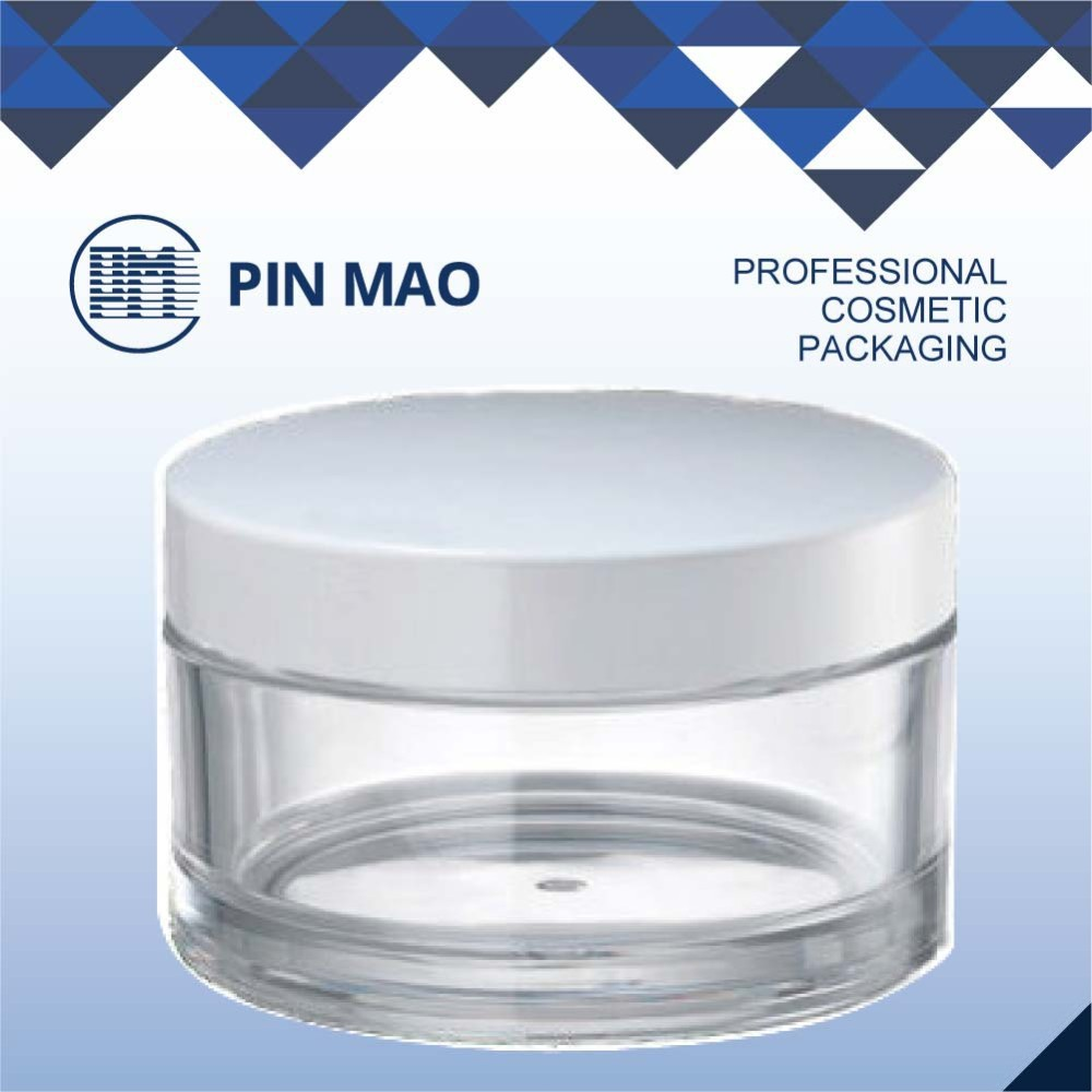 plastic cosmetic packaging empty cream jar
