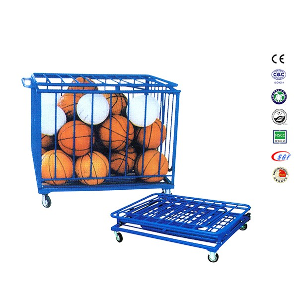 Good quality basketball carry cart part of basket ball hoop pole and base