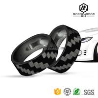 Latest Carbon Fiber Finger Ring Designs 100% Real Carbon Fibre Rings