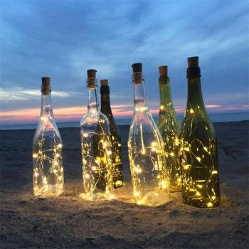 Best Selling 10L 20L 30L 40Led Bottle Lights With Cork Wine bottle String Lights