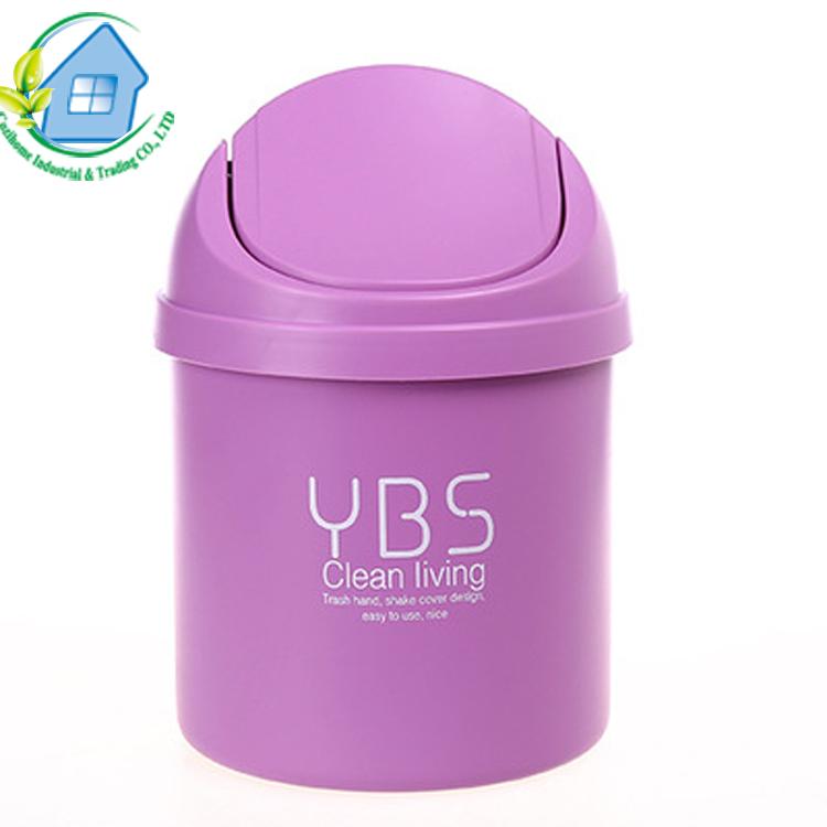 Ucuz Fiyat ofis plastik çöp tenekesi plastik renkli masa çöp tenekesi mini çöp kutusu