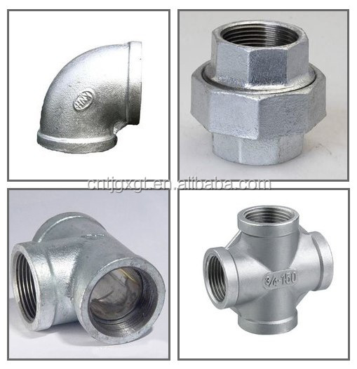 galvanized cast elbow fitting