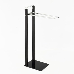 Wooden Black Color Standing Hanging Towel Racks