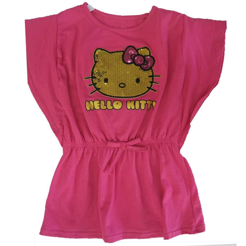 05f70a2be Buy Hello Kitty Little Girls Fuchsia Glitter Letters Leopard Spot T ...
