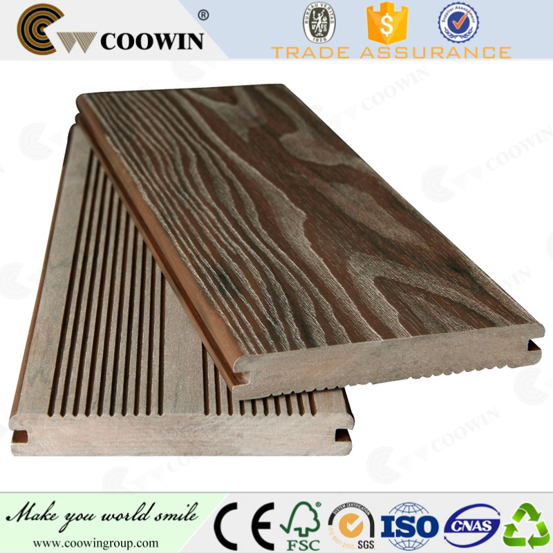 Anti-crack easy maintain wpc material solid wood decking for terrace