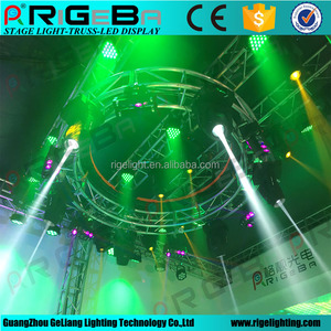 revolving truss aluminum 2m 3m Customized dj stage rotate truss double or single layer mini size for lights