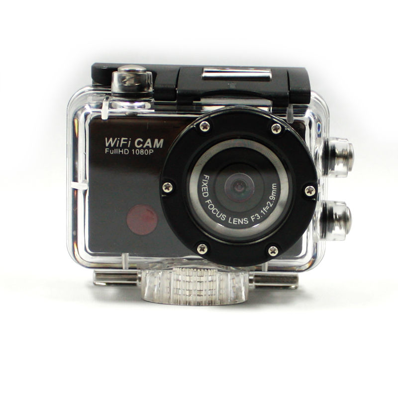 factory oem hot sell WIFI sport camera DV-126+ Remote Control Mini waterproof action camera 1080P 30fps HD