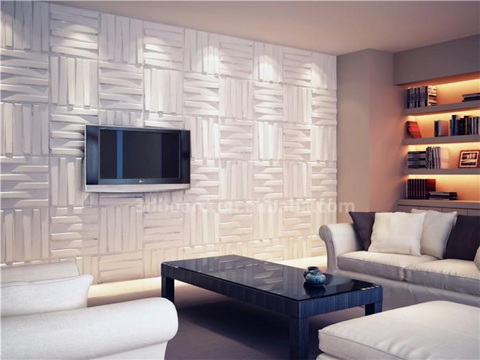 Plant Fiber Decorative Mural 3d Wallpaper 3d Wood Wall Panels For ...