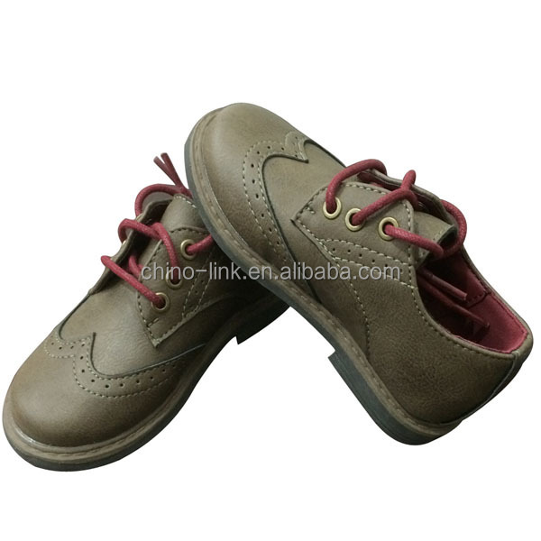 Pu leather upper cheap soft quality baby prewalker shoes