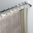 Double extensible shower curtain rail