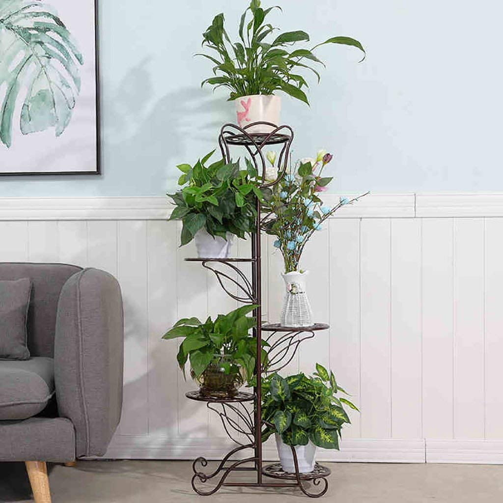 Flower Stand Plant Theatre - Plant Theatre in Natural Handmade Metal Plant Stands Flower Shelf Display Shelf (Color : C, Size : C)