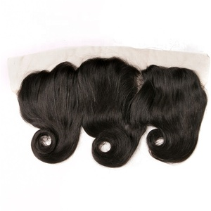 Reasonable price brazilian hair wave lace frontal closure with hair extension,human hair lace frontal for black woman