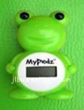 portable animal shape frog step counter pedometer calorie counter