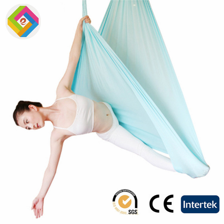Aerial Yoga hammock elastic Yoga hammock sling stretch silk fabrics with mounting accessories