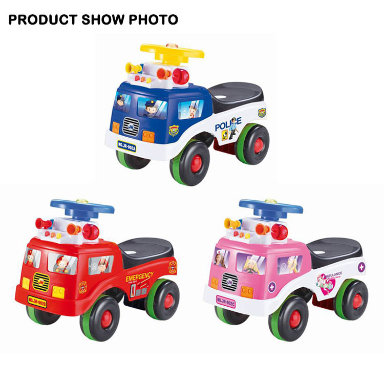 [JK TOYS] Kid Ride On Car Fire Engine Truck With Music And Policelight