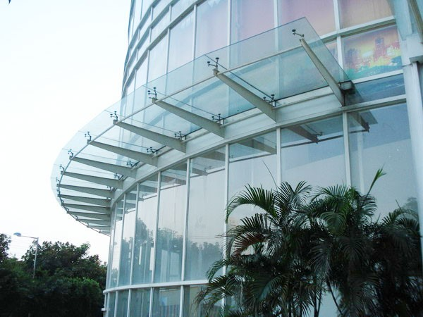 Glass Canopy Glass Roof For Hotel Office Shopping Mall